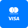 Deposit of a card account of VISA / MasterCard