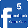 Facebook Game Card 5$ (US region) - оплата через интернет