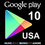 Google Play Gift Card 10$ (US region)