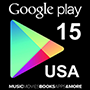 Google Play Gift Card 15$ (US region)