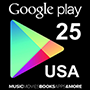 Google Play Gift Card 25$ (US region)