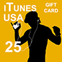 iTunes Gift Card 25 (US region)