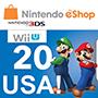 Nintendo eShop card 20$ (US регіон) - оплата через інтернет