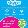 Skype Gift Card 25$ (US регіон) - оплата через інтернет