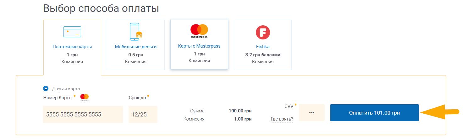 Как оплатить интернет Датагруп (DataGroup) - шаг 4