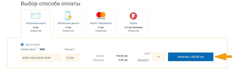 Как оплатить интернет Эверест - шаг 4